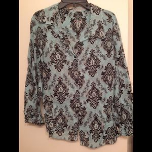 FoxCroft Blouse Fitted Size 12